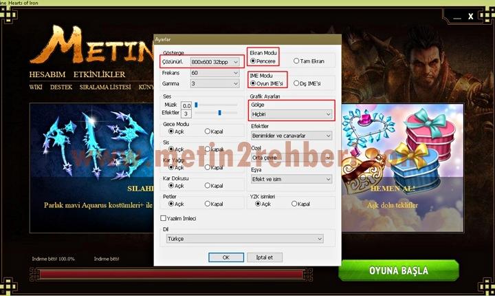 metin2 ekran donması ve çökme